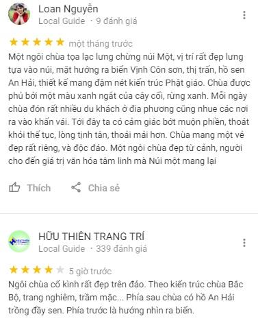 Đánh giá của khách du lịch về Vân Sơn Tự trên mạng xã hội