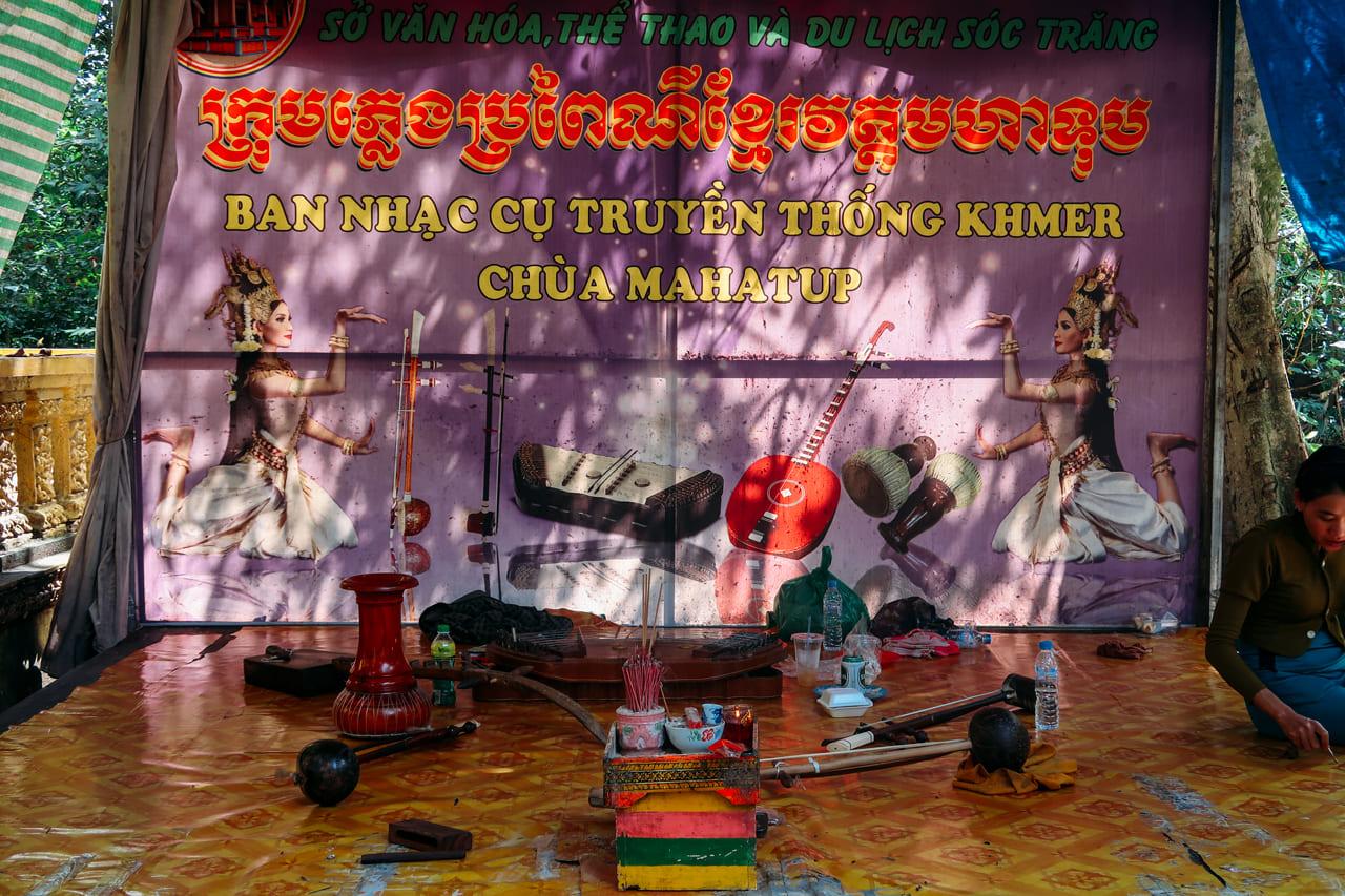 Bộ nhạc cụ truyền thống của người Khmer tại Sóc Trăng