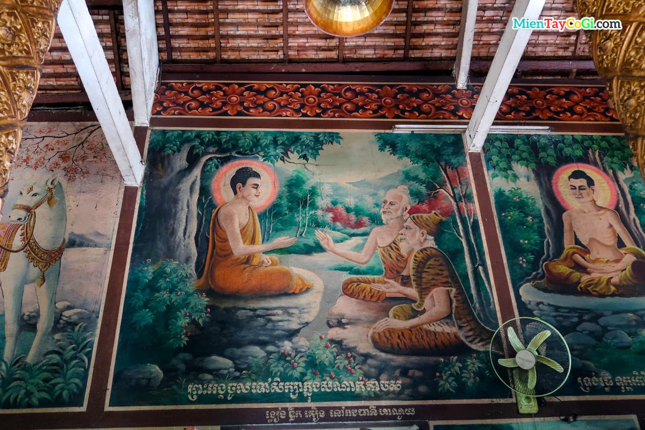 Ảnh về đức Phật trò chuyện cùng những vị khổ hạnh