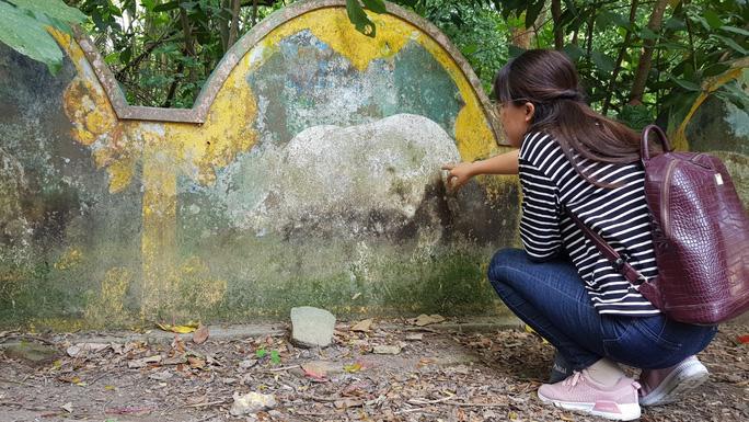 Du khách viếng thăm mộ heo 5 móng