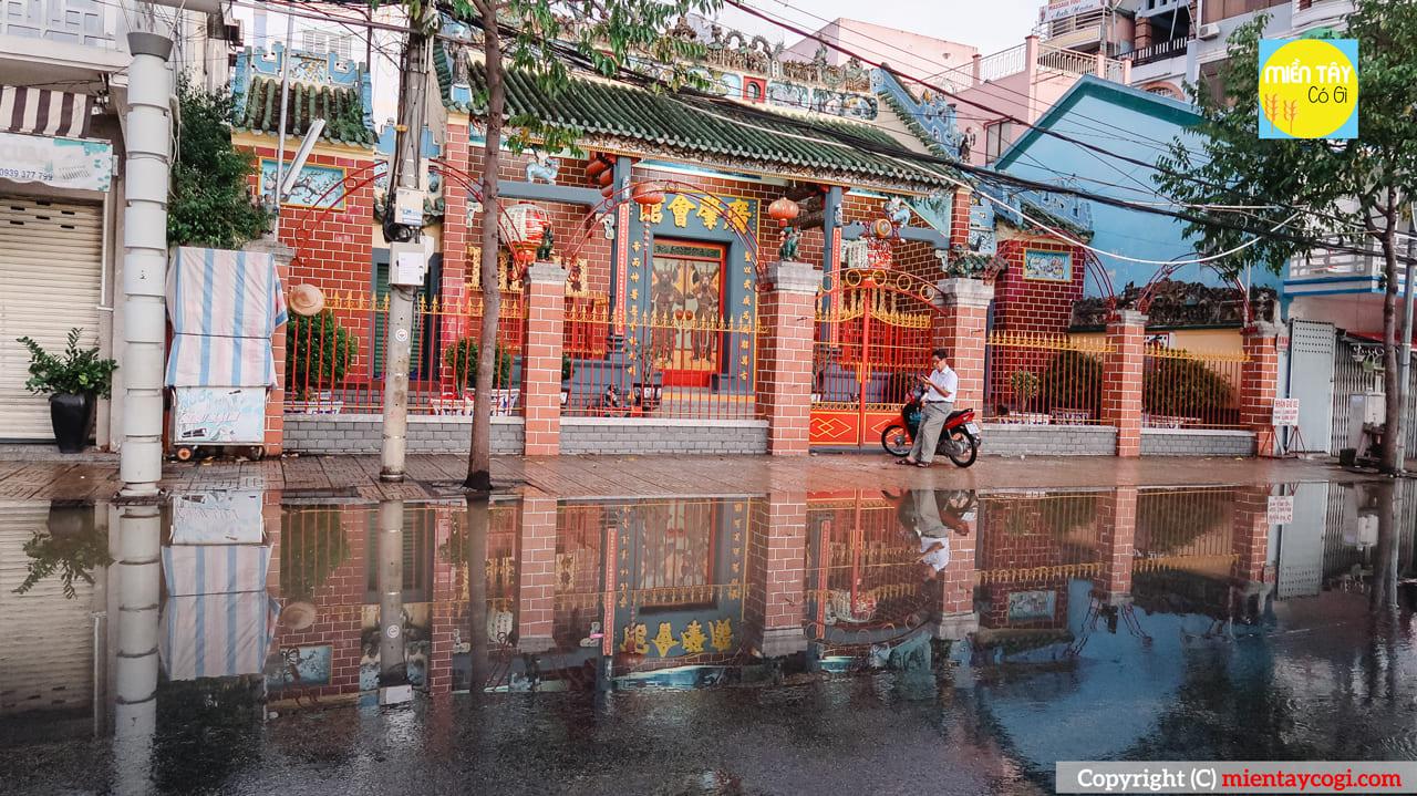 Ngập nước ở chùa Tàu Cần Thơ