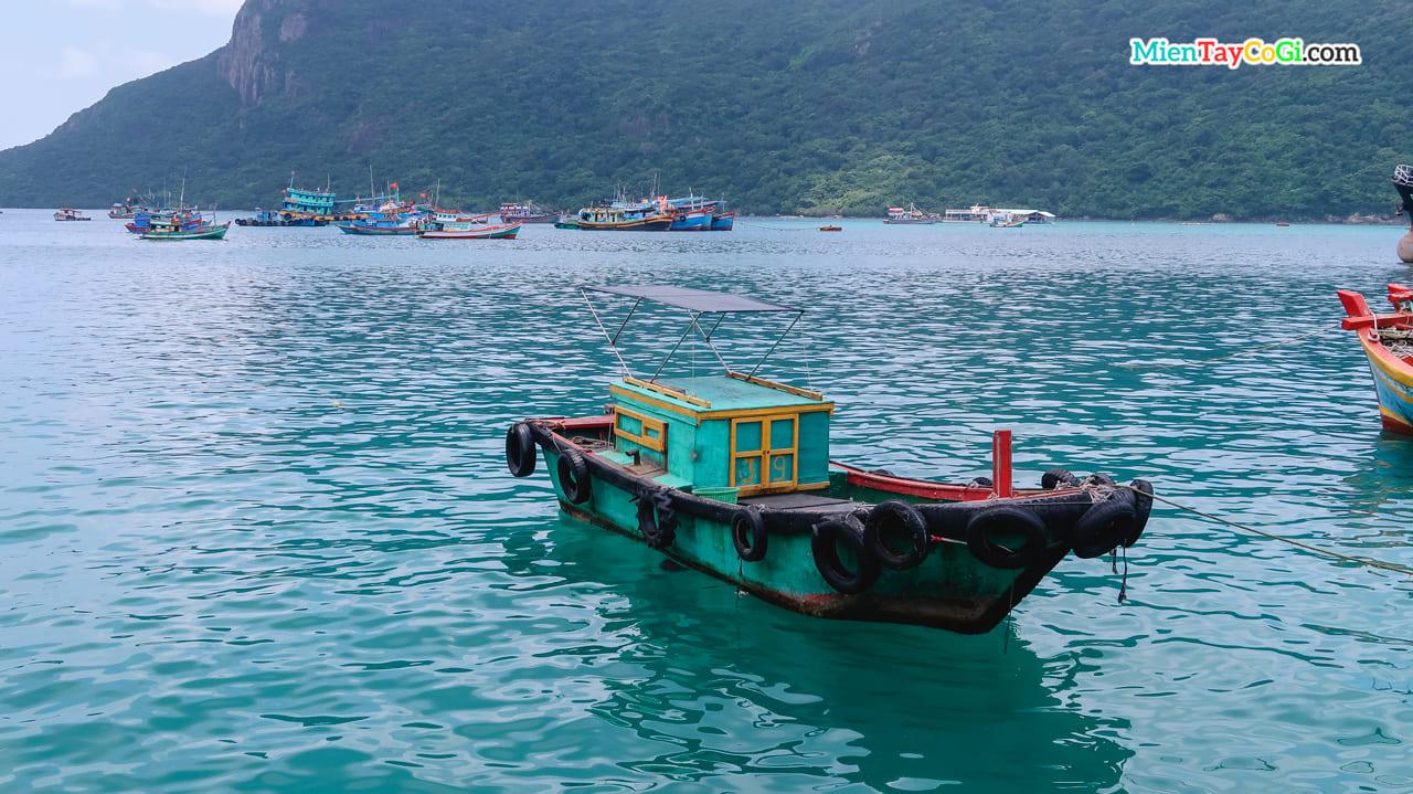 Tàu chở khách du lịch tham quan hoặc dùng đánh bắt gần bờ