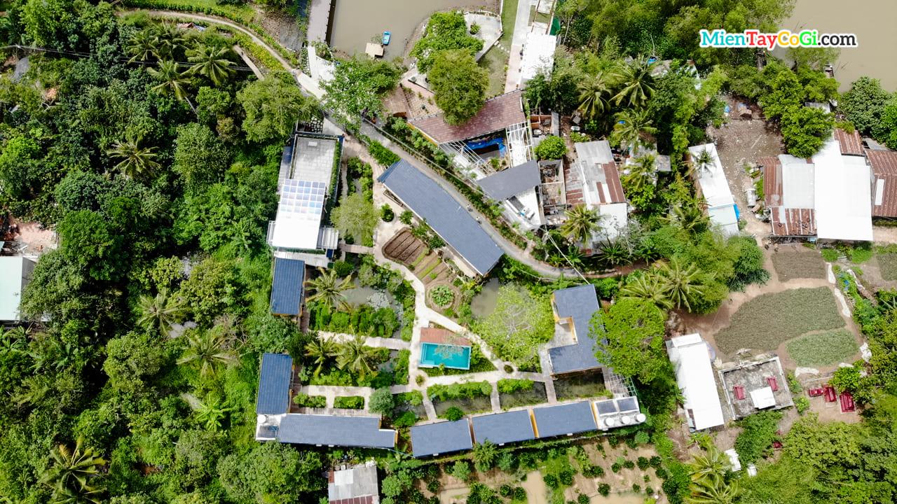 Bình Minh Eco Lodge nhìn từ trên cao