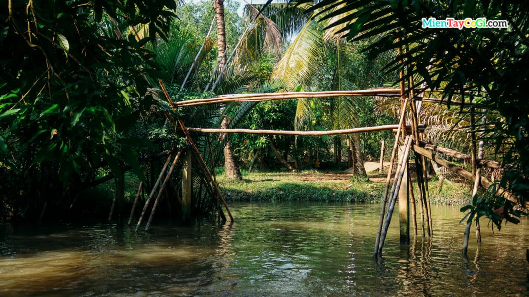 Cầu khỉ miền Tây ở nhà vườn Ba Cống