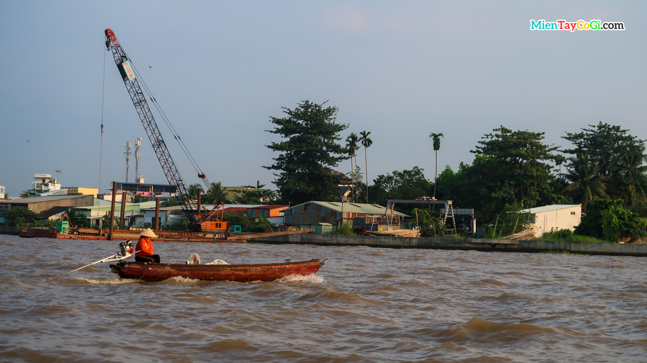 Boat on the Can Tho river