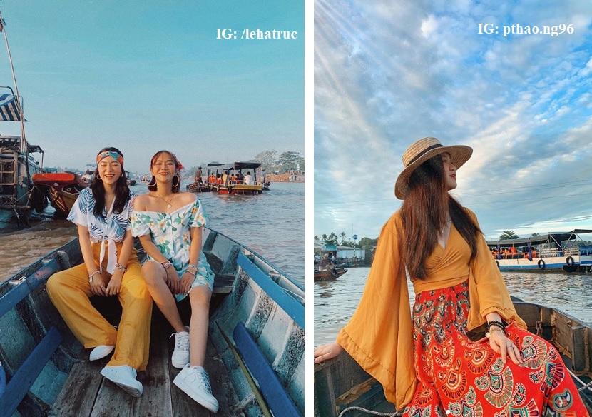 Những bức hình trên Intagram khách du lịch check in chợ nổi Cái Răng