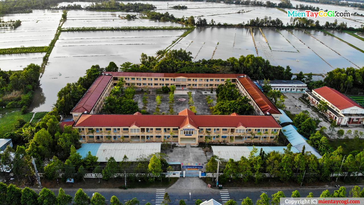Trường THPT Long Mỹ   Hình ảnh Flycam Lộng Lẫy Từ Trên Cao