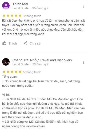 Đánh giá của khách du lịch về Bãi Nhát Côn Đảo