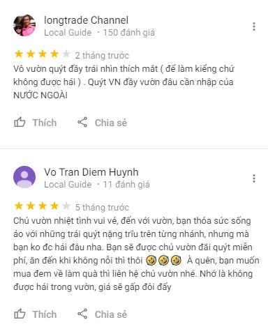 Đánh giá vườn Hai Kiệt