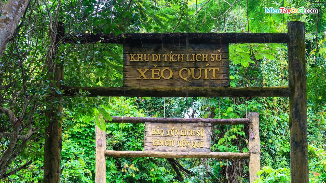 Slogan bảo tồn lịch sử giữ gìn hồn quê tại Xẻo Quýt Đồng Tháp
