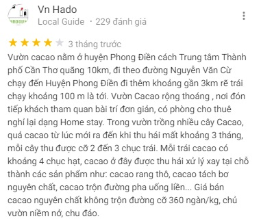 Customer reviews about Muoi Cuong Cocoa Farm