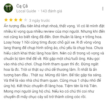 Review Sa Dec Flower Farm on Google Maps Comment