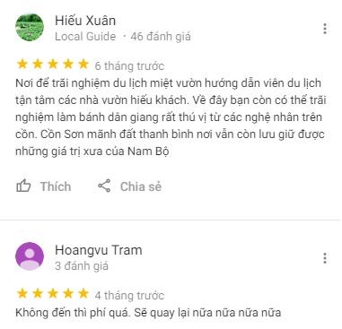 Review Cồn Sơn Cần Thơ của khách du lịch