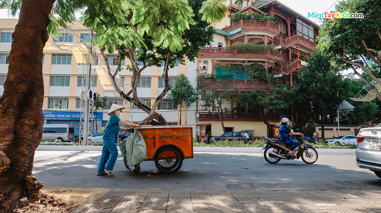 Người quét rác ở thành phố