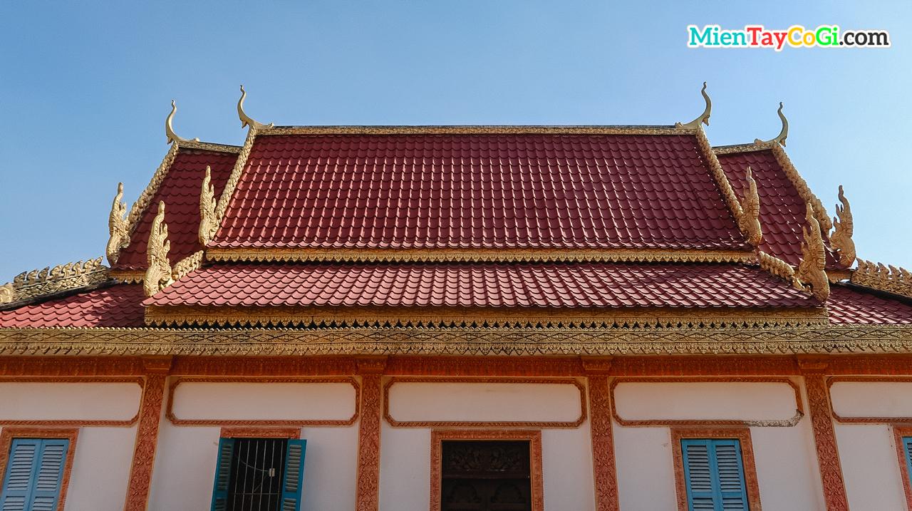 Kiến trúc đặc trưng của một ngôi chùa Khmer tại Muniransay Cần Thơ
