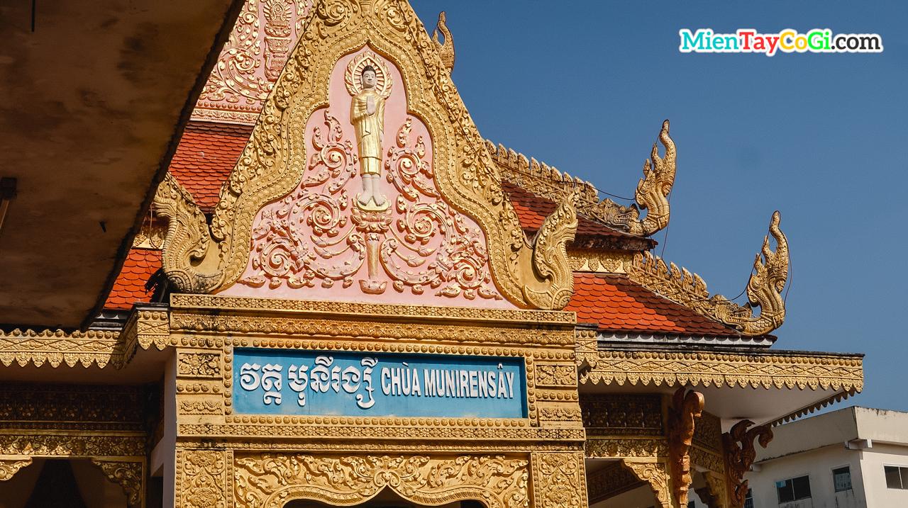 Kiến trúc chánh điện chùa Khmer Cần Thơ Munirensay