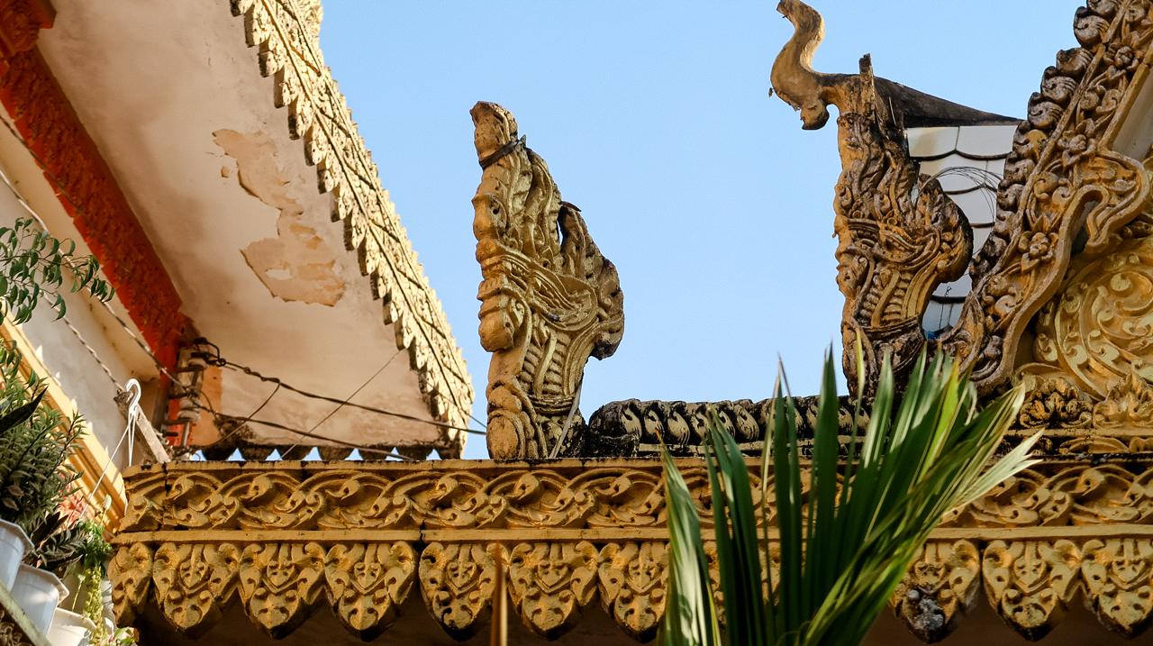 Kiến trúc rắn thần Naga trên mái chùa Khmer Cần Thơ Munirensay