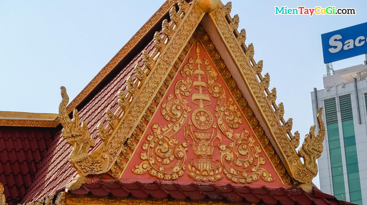 Kiến trúc tinh xảo tại chùa Khmer Muniransay Cần Thơ