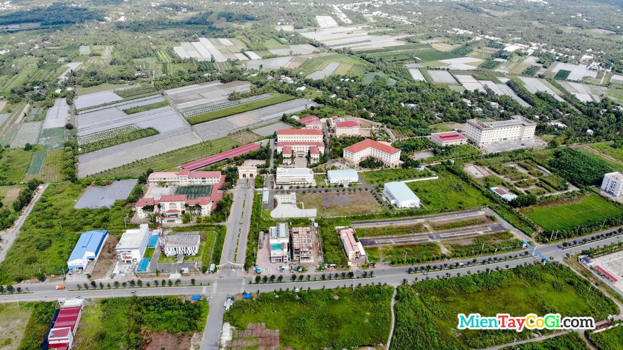 Đại học Nam Cần Thơ từ trên cao