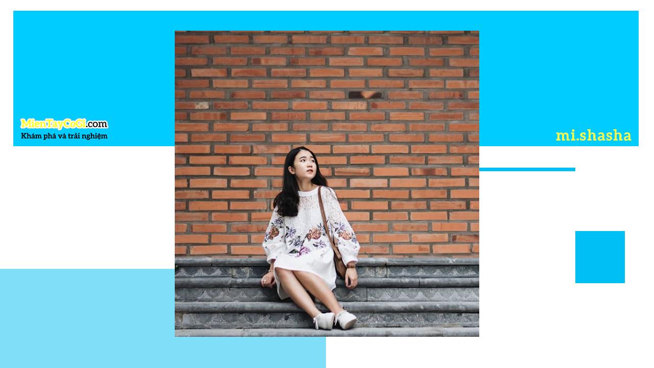Bức tường gạch tạo thành background đẹp khi chụp