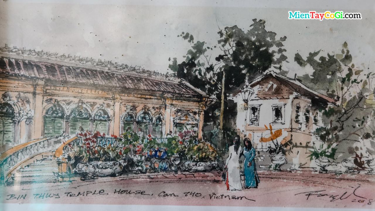Bức tranh cổ về nhà cổ Bình Thủy