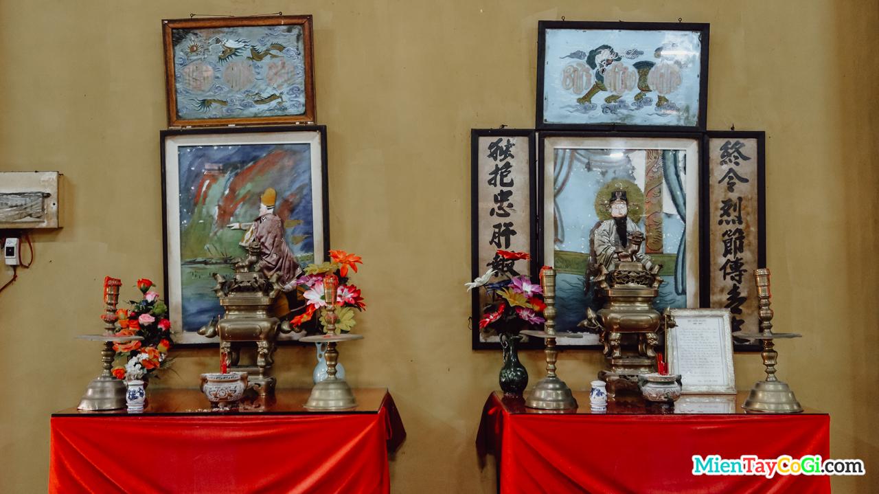 Nơi thờ Bùi Hữu Nghĩa và Trần Hưng Đạo