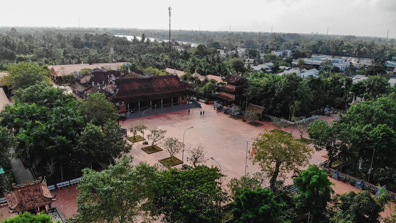 Thiền viện Trúc Lâm Phương Nam từ trên cao