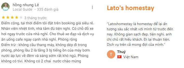 Đánh giá khách ở về Lato's homestay Cần Thơ