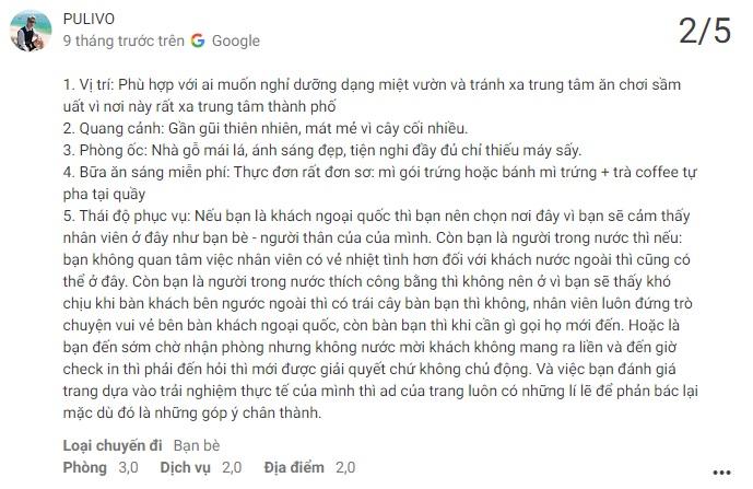 Đánh giá khách ở về Mekong Rustic Cantho trên Social Network
