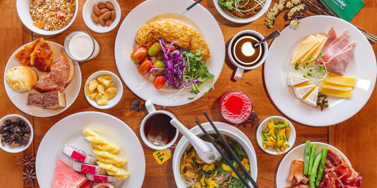 Bữa ăn combo của Cần Thơ Ecolodge
