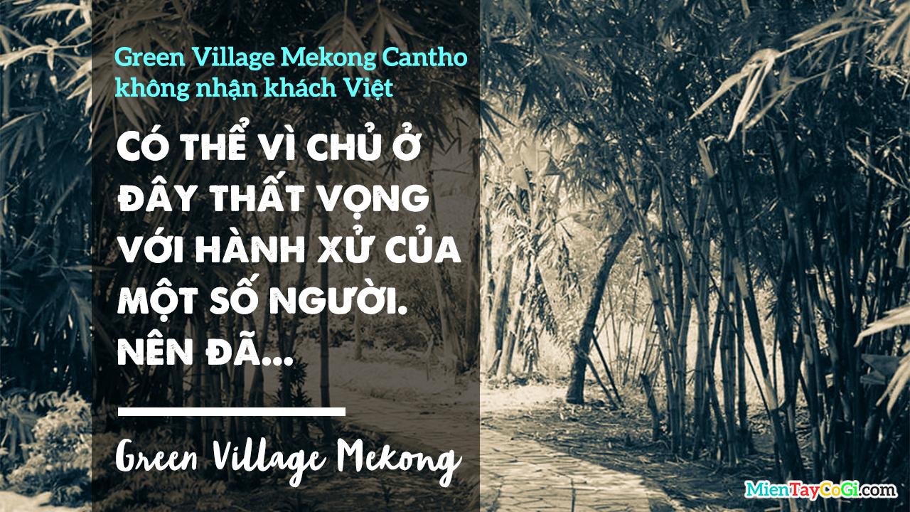 Green Village Mekong Cần Thơ không tiếp khách Việt