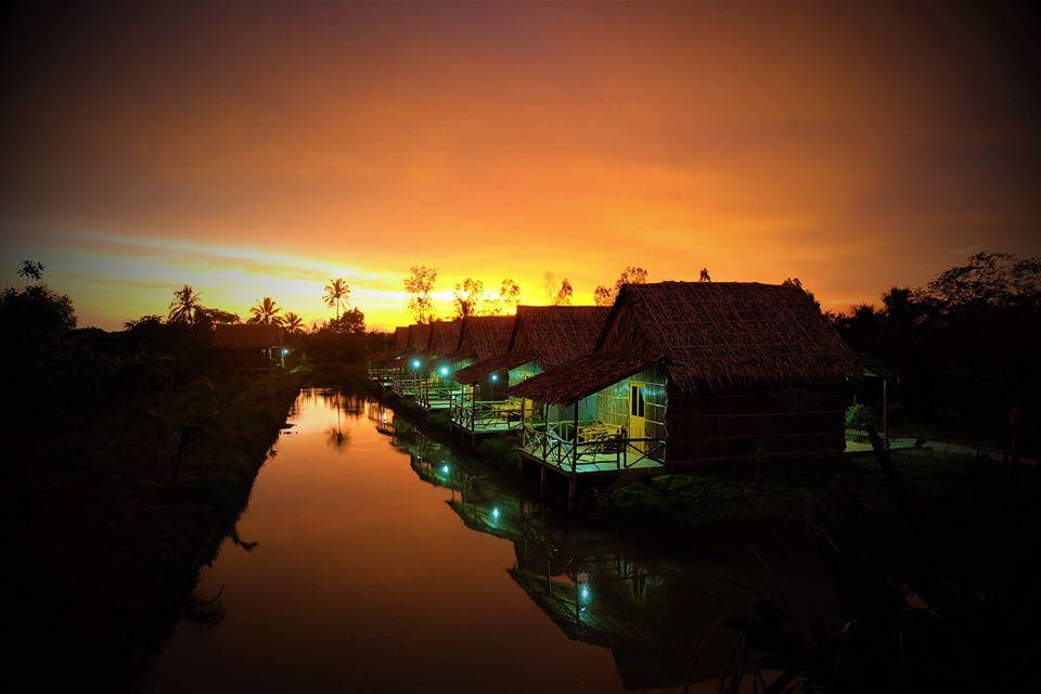 Green Village Mekong Cần Thơ về đêm