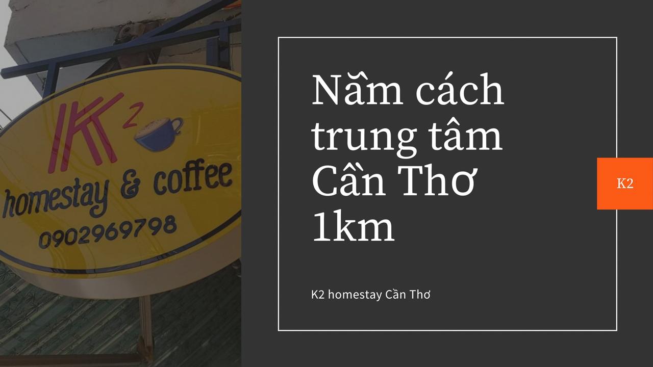 Homestay nằm cách trung tâm thành phố Cần Thơ khoảng 1km