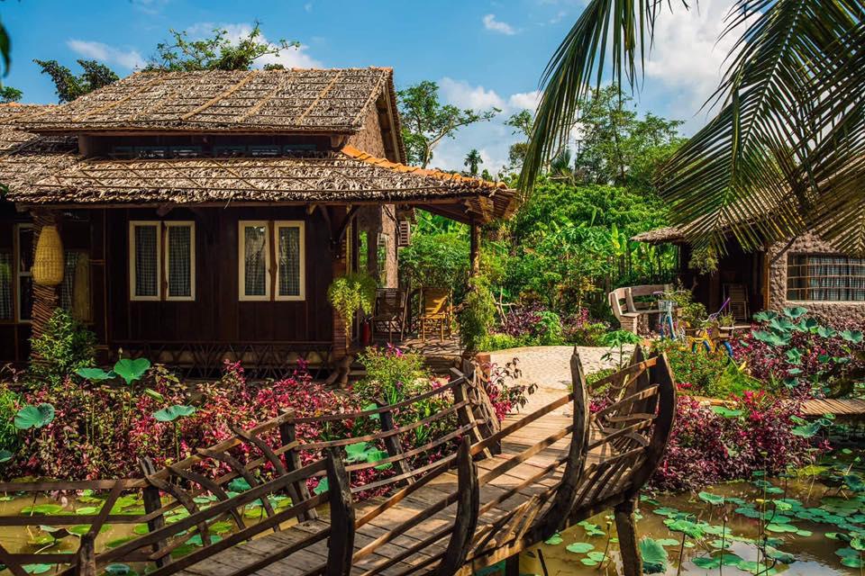 Không gian bên ngoài Mekong Rustic Cần Thơ