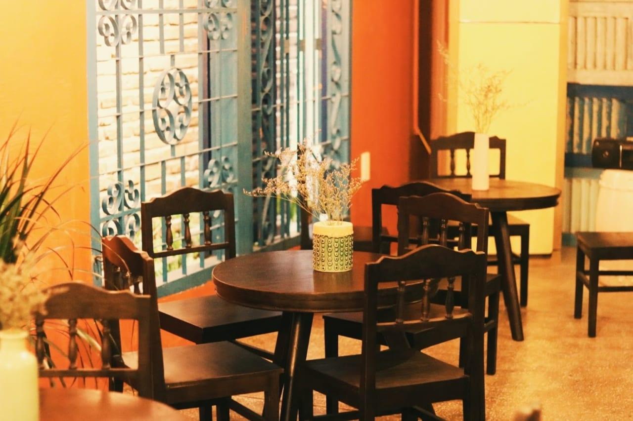 Không gian cafe K2 homestay