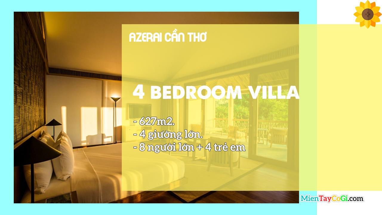 Mô tả phòng Villa 4 giường Azerai