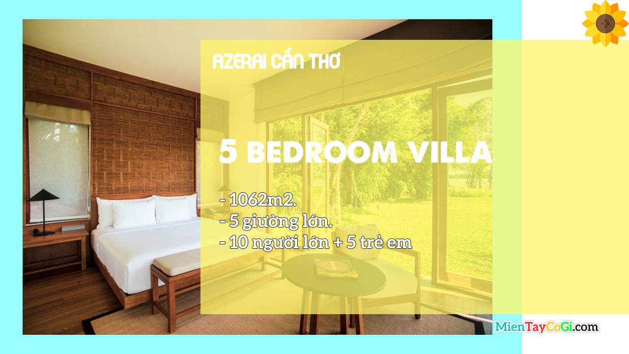 Mô tả phòng Villa 5 giường Azerai