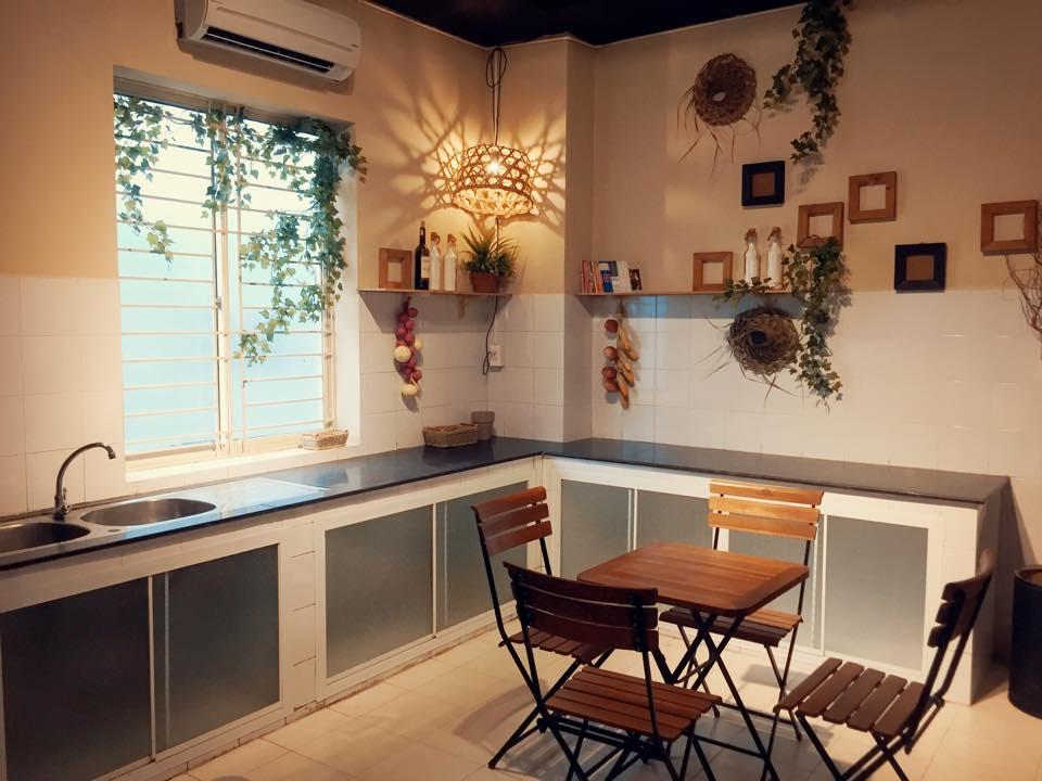 Phòng bếp N&D homestay Cần Thơ