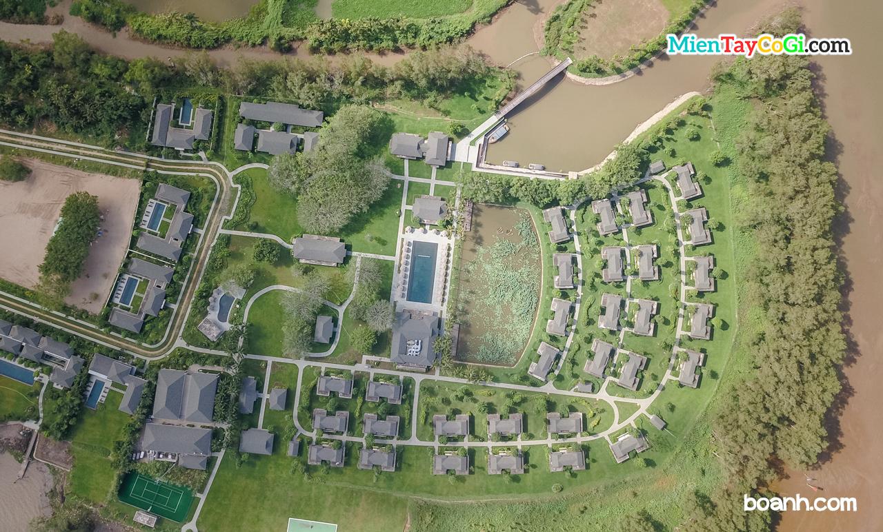 Resort Azerai Cần Thơ nhìn từ trên cao