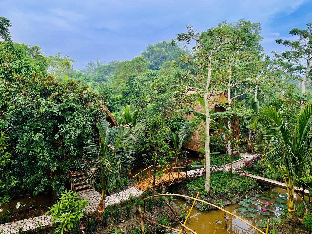 View vườn Bamboo Eco Village Cần Thơ