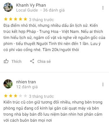 Đánh giá khách du lịch về nhà cổ Huỳnh Thủy Lê Đồng Tháp