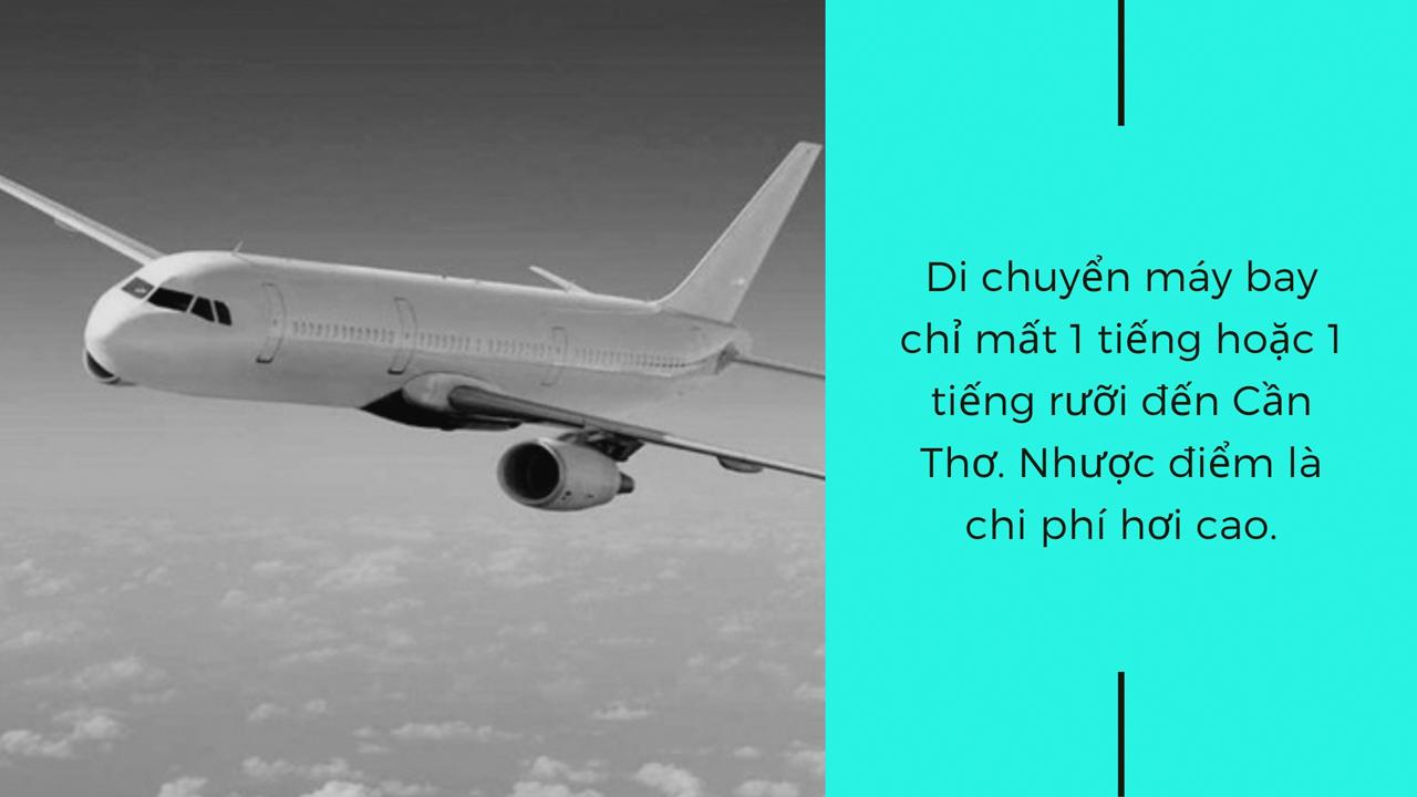 Di chuyển bằng máy bay đến Cần Thơ