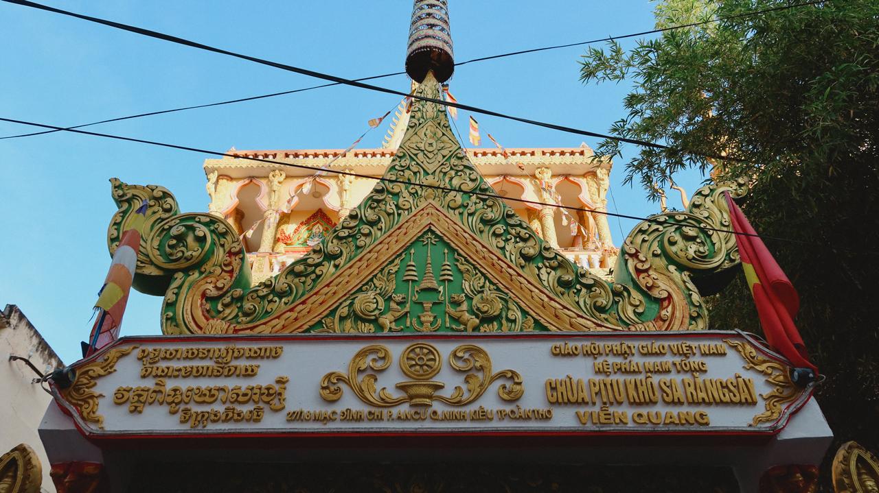 Biển hiệu chùa Pitu Khô Sa RăngSây