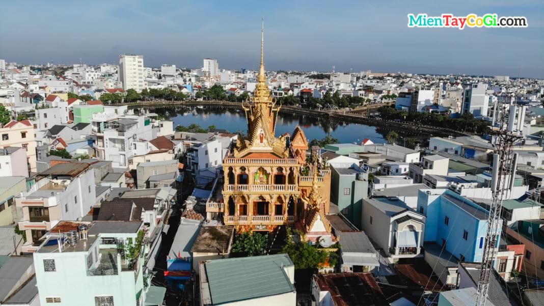 Chùa Khmer bờ hồ Xáng Thổi Pito Khoma RangSay Cần Thơ