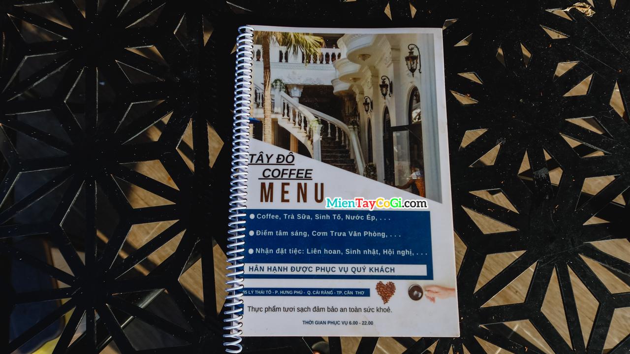 Menu Nhà hàng Tây Đô