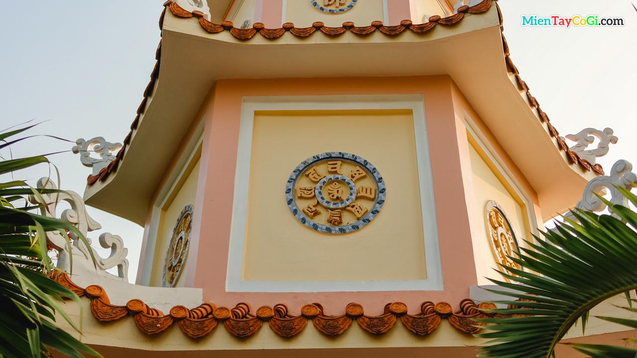 Trang trí hoa văn ở bảo tháp Hội Linh