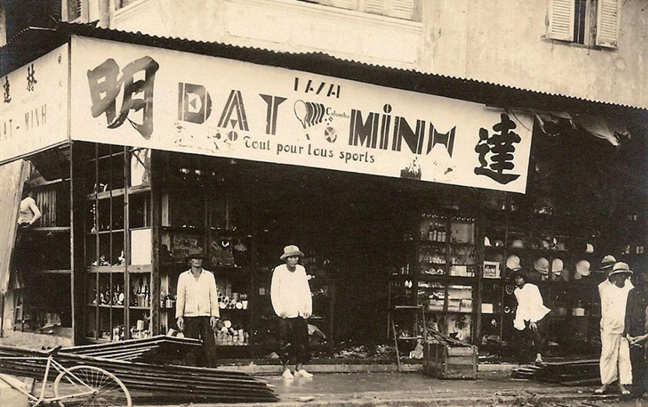 Cửa hàng dụng cụ thể thao Đạt Minh năm 1961 ở Cà Mau