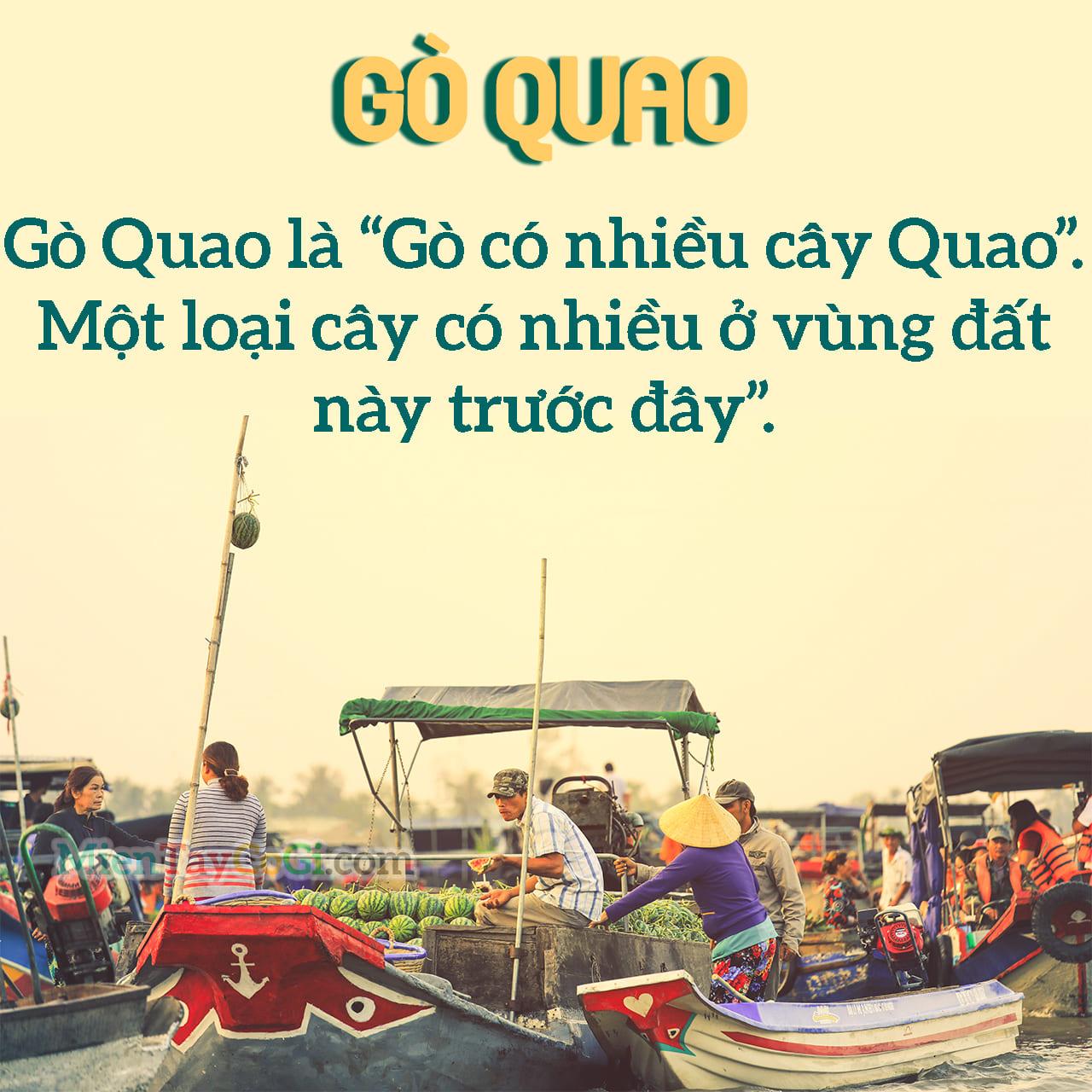 Ý nghĩa của địa danh Gò Quao là gì