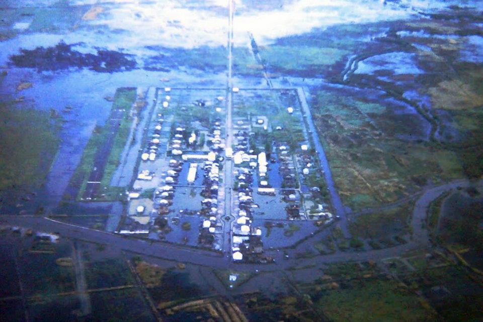 Làng Bình Hưng ở Biệt khu Hải Yến - Cà Mau năm 1960s nhìn từ trên cao