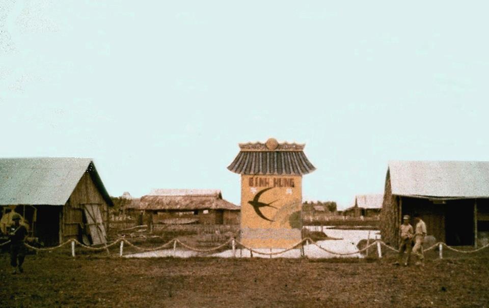 Làng Bình Hưng trong biệt khu Hải yến Cà Mau 1960s